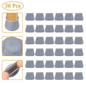36Pcs Round Silicone Table Chair Feet Cover Floor Protector Furniture Feet Anti-Scratch Protective Pad Anti-Slip Chair Leg Caps