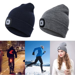 Unisex Climbing Hat Fishing Camping Knitted LED Light Outdoor Running Beanie Cap Acrylic LED Light Knitted Hat Monden New O29