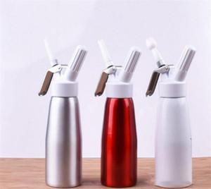 500ml Aluminum Whipped Cream Dispenser Pint Gourmet Whipper Stainless Steel Decorating Nozzles & Plastic Pastry Tube