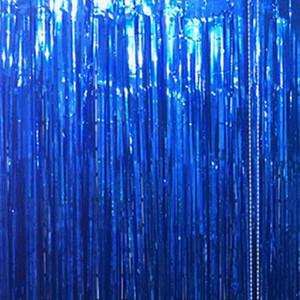 100 * 200cm Metallic Foil Fringe-Raum-Dekor-Tür-Vorhang für Weihnachten, Geburtstag, Hochzeit Party Decor
