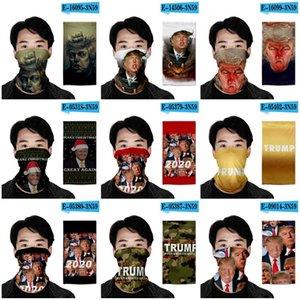 Многофункциональный Магия Тюрбан шарф Donald Trump дизайн пыле Защитная маска для лица Путешествия Хип-хоп Hat 2020 Президент США Выборы 7oh E19