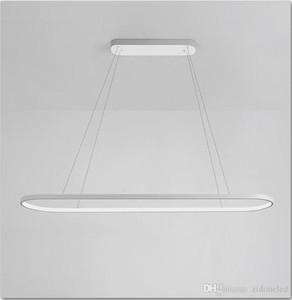 Led Oval moderno pingente luz de alumínio de suspensão Island Light aparelho de iluminação para refeições Sala Quarto Ilha AC85-265V