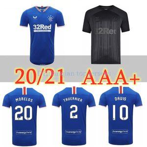 Thailand Quality 2020 Rangers FC Home Blue Guest Soccer Jerseys 20 21 Glasgow Rangers Away black Football Shirt Uniform