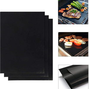 1 3PC Reusable Non-Stick BBQ Grill Mat Pad Baking Sheet Portable Outdoor High Temperature Resistant Baking Pad BBQ Accessories #