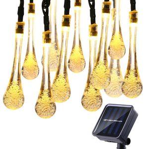 Lampadina 6M 30LED luce solare String Droplet lampadine leggiadramente della stringa Luce per esterni luci solari prato giardino