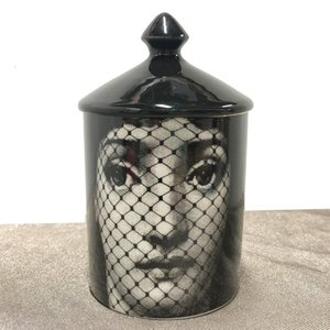 Vintage Fornasetti Candle Holder Handmade Candles Jar Retro Lina Face Storage Ceramic Caft Home Decoration Jewerlly 13 Designs SH190924