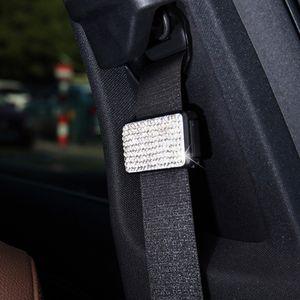 NEW Car Seat Belts Clips Safety Adjustable Stopper Buckle Rhinestone Diamonds Car belt buckle clip Automobiles Safety Belt Clip Car Styling