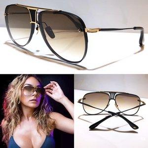 Nuevas gafas de sol de los hombres estilo de moda de diseño de metal retro gafas sin marco cuadrado UV 400 lentes de gafas de protección exterior DÉCADA DE DOS