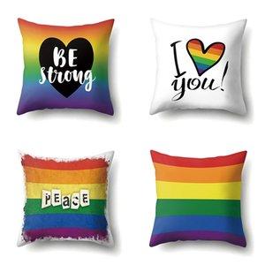 Pride Радуга Наволочка Мир Be Strong Throw Подушка Обложка диван украшения