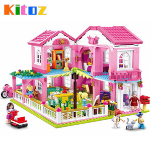 Kitoz DIY Doll House Miniature Dollhouse Home Villa Garden Mini Room Box Building Block Brick Toy for girl Y200704