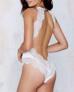 Sexy Belle Ma'am Retour transparente en dentelle Lin Tai Fermer Taste Taste Pyjama Sous-vêtements