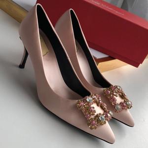 Kutu ile yüksek tasarımcı seksi yüksek topuk kadın ince bahar ve yaz vahşi ışık dipleri ile ayakkabı size35-41