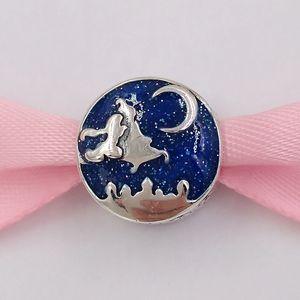Аутентичные 925 Стерлинговые серебряные бусины DSN DSN, волшебный ковер Ride Charn Charms подходит для европейских ювелирных изделий в стиле Pandora. Ожерелье 798039enm