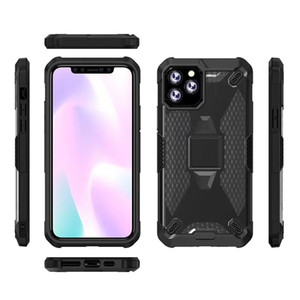 Anti-shock Phone Case for iPhone 11 6 7 8 6P 7P 8P X XS XR XS MAX Transparent Honeycomb Back Full Protection Drop-proof Cover for XR I8 Skin