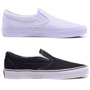 Tembel ayakkabı kadın ayakkabıları severler siyah ve beyaz klasik kanvas ayakkabılar erkek ayakkabı kayma açık spor kurulu
