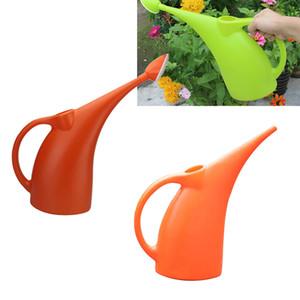 2 piezas de plástico largo con la boca de riego Can de gran capacidad en maceta de riego Hervidor jardinería herramienta 2L