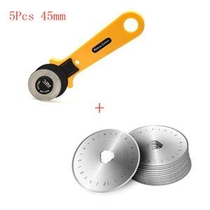45 milímetros Rotary Cutter + Spare Blades Fit Olfa Dafa Fiskars Rotary Cutter Tecido Paper Circular Corte Patchwork Craft Leather