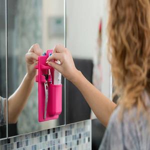 Silicone Toothbrush Holder sucção Pad armazenamento Shaver Organizer Caixa de armazenamento Forte sucção armazenamento WY466Q Titular