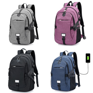 17 Inch Student Backpack Back To School Girls Boys School Bag College Student USB Convenient Charging Leisure Travel Computer Backpack