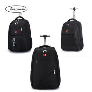 BeaSumore 18 20 inch Shoulders Travel Bag Multifunction Student Backpack Men Business Laptop bag Suitcases Wheel