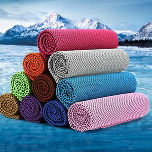 30*90cm Ice Cold Towel Cooling Summer Sunstroke Sports Exercise Cool Quick Dry Soft Breathable Cooling Towel DA265