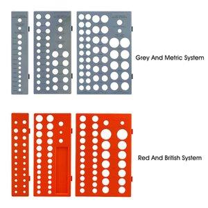 3pcs / set Plateau atelier Durable multifonctions rack Socket manches Organisateur Système métrique britannique Outils Support de stockage portable