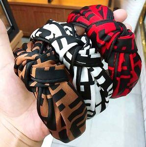 Heißer Verkaufs-Haar-Band High Grade Weit Rand Tuch-Kunst-Knoten-Haar-Band-Mode Brief Hairpin Stirnband
