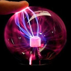 Crystal Plasma Boule à plasma Boule d'induction électrostatique Boules à induction LED lumières USB Power Power Battery Décoration Cadeau Enfants