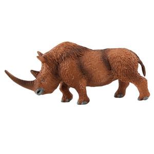 Gerçekçi Rhino Oyuncak Hayvan Figür, Minyatür oyuncaklar Kek Toperler, Plastik Hayvan Öğrenme Oyuncak