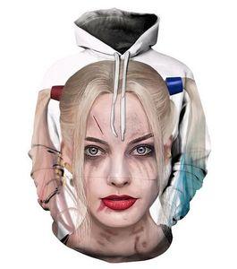 New Fashion Harajuku stile Casual 3D stampa Felpe con cappuccio Harley Quinn Joker Uomo / Donna Autunno e Inverno Felpa con cappuccio Felpe B0125