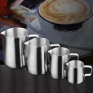 Acier inoxydable Frothing Pitcher café Pull Fleur Coupe Cappuccino Lait Pot Espresso Cups Latte Art Fouets à lait Frothing Jug