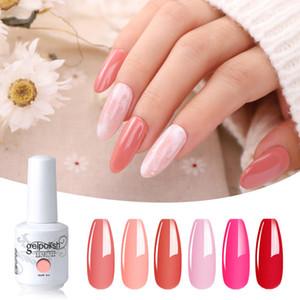 Elite99 6 peças / lote cor pura semi permanente UV LED gel para manicure verniz híbrido nail art gel polonês 15ml