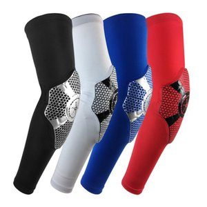 1pc Long Elbow Pads Sleeve Polyester Spandex Breathable Anti-slip Anti-bump Arms Wrist Cover Protector