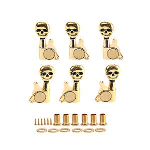 Insieme Di 6 Gold stringa della chitarra spine di sintonia sintonizzatori Machine Head chiavi 3L3R