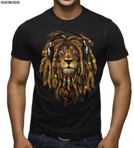 хлопок мода новые мужские дреды Rasta Lion Dj черная футболка Ямайка Blunt Rave Tee