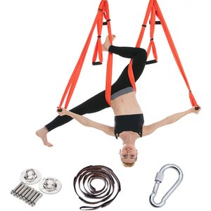 1 Set of 50 Pieces Aerial Yoga Hammock Indoor and Outdoor Accessories Non-Elastic Fitness Swing Full Set