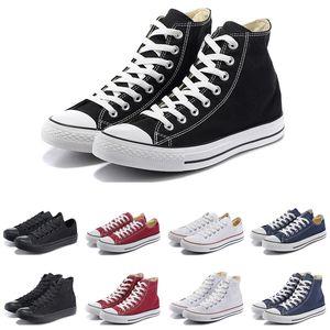 Canvas shoes Yeni Moda erkek kadın rahat Ayakkabılar siyah beyaz kırmızı bej pembe lacivert yüksek düşük yüksek kaliteli tasarımcı atletik boyutu 36-44