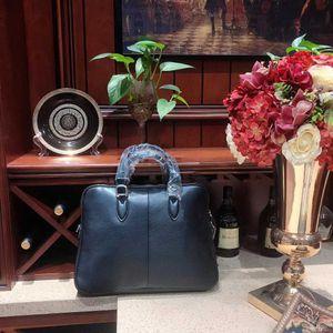 Genuine leather Mens Briefcase Tote men messenger bag travel laptop bag for men document business Leather male briefcase 616