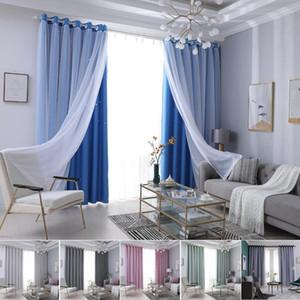 Гардина Star Overlay Cut Out Drape Solid Color двухслойных D30 полой Из окна гардины Гостиной Спальни