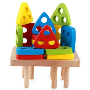 Baby Shape Color Toys Wooden Shape Sorter Cognitive Toys Early Education Blocks Chopping Block Match Kids Montessori Toys