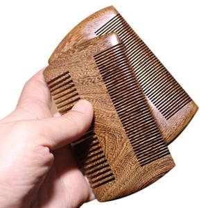 Kadınlar Doğal Güzel Ahşap DİŞ Vintage Sandal Ağacı Tarak Altın Tel Sandal Ağacı Bar Tarak El Yapımı BeardHair Combs