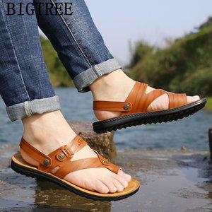 mens sandals genuine leather open shoes men beach sandals shoes man 2019 summer zapatos de hombre buty meskie