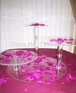 Free Shipping 3 Tier Beautiful Acrylic Wedding Cake Stand Cupcake Stand Wedding Decoration