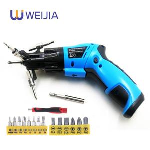 6 In1 Mini 6V bateria Cordless elétrica chave de fenda Rotary Screw motorista com Luz de trabalho e 14 Bits para uso doméstico Manutenção Y200321
