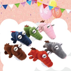 Plush Keychains 2019 Hot sale Backpack Accessories Cute Plush Toys Scrocodile Soft Stuffed Animals Dolls Gift 6 colors j1008