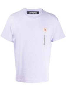 20SS Luxury Европа Франция Высокое качество вышивки Daisy печати Мужская мода Tshirt дизайнер футболки женской одежды Casual Cotton Tee Топ