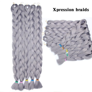 Ombre Xpression Brading Hair 165g 41inch Long Ombre Blonde Color Synthetic Crochet Braids Extension 100% Kanekalon
