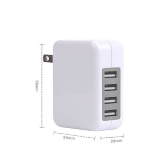 DHL Free Stock EU US Plug Wall Charger Station 4 Port USB Charge Charger Travel AC Power Chargers Adapter For Huawei Xiaomi Shopping