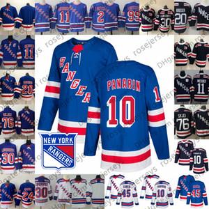 2019 New York Rangers # 10 Artemi Jersey 24 Kaapo Kakko 30 Henrik Lundqvist # 99 Gretzky 2 Brian Leetch 11 Mark Messier