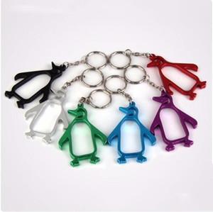 Пингвины бутылка пива открывалки Алюминиевого сплава открывалки животных с ключевой цепью прекрасных открывалками портативного бутылка LXL1204-L